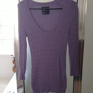 AE Purple Knitted Tunic